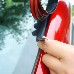 Car Windshield Roof Seal Noise Insulation Rubber Strip Sticker Accessories 2M