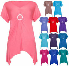 V Neck Stretch Plus Size Tops & Shirts for Women