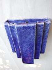 Antique Art Deco Trent  Blue Wall Vase Australian Pottery 1930's