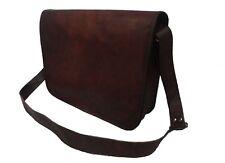 Leder Umhängetasche Schultertasche 17 Zoll Laptop Tasche Messenger Crossbody Bag