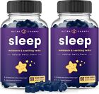 (2-Pack) Melatonin Gummies for Kids & Adults - Sleep Aid Gummy Vitamins 120