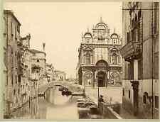 Italia, Venezia. Rivo del Ospitale  Vintage albumen print. Italy.  Tirage al