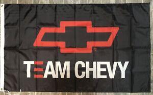 Chevy Team Chevy Banner 3x5 Ft Flag Garage Shop Camaro Corvette Silverado