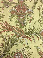 2.5 yds Thibaut Upholstery Fabric Hunterdon Botanic Cotton Print F93350 AJ9