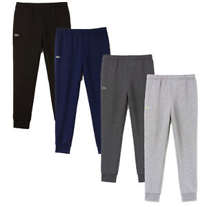 Lacoste Men's Jog Pants Essential Drawstring Cotton Jogging Bottoms Cuffed