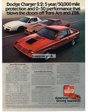 1982 Dodge Challenger 2.2 Red Blows Doors Off Trans Am Camaro Z28 Vtg Print Ad