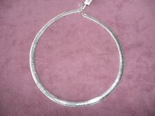 ".925 Sterling Silver Necklace-17""1/4"" thick- Italy-Chain-New with tags in box"
