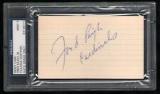 Fred Saigh Jr (d.1999) signed index card 3x5 auto autographed PSA 9 Cardinals