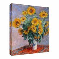 Art Claude Monet Sunflowers oil painting Canvas Wall Art Picture Print