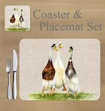 Ducks,   placemat and coaster set    by Jane Bannon