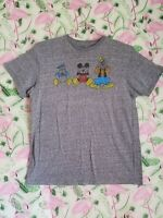 Disney World Mickey Mouse Goofy Donald Duck  Funny Mens Large Gray T Shirt