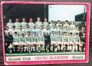 CALCIATORI PANINI 1967 - 1968 -  TEAM CELTIC GLASCOW NEW - NUOVA MAI INCOLLATA