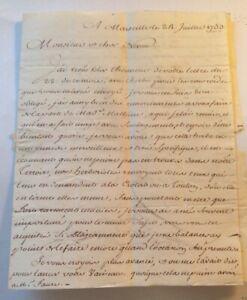 LETTRE autographe DE 1753 SUR UNE HERBE POUR LES HÉMOROÏDES.