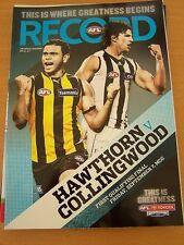 2012 AFL FOOTBALL RECORD 1ST QLFY FINAL HAWKS MAGPIES
