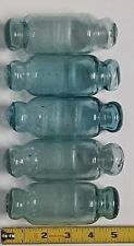 """Japanese Glass Floats 5"""" Rolling Pin Lot-5 Ocean Fishing Decor Rollers Vntg"""