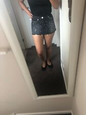River Island Gorgeous Summer Skirt Size 8 Stunning Sexy Black Skirt