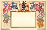 Stamp Card Postcard Showing Deutsches German Reich Postage Stamps~107969