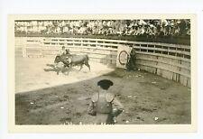 Del Rio TX Bull Fight RPPC Val Verde County—Rare Antique Photo Matador 1934