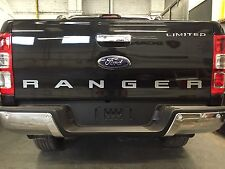 Silver Rear Tailgate Decal Sticker FOR FORD RANGER T6 PX WILDTRAK 2012-17