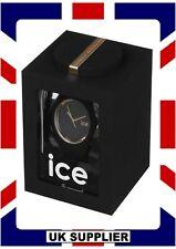 Unisex Ice-Sili Glam Watch ICE.GL.BK.U.S.14 Black Rose Gold MediumRRP£110 #O6