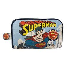 SUPERMAN VINTAGE WASH BAG RETRO TOILETRY CASE TRAVEL MENS MAN STEEL SMALLVILLE