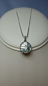 Roman Glass Pendent with sterling silver chain 18inch
