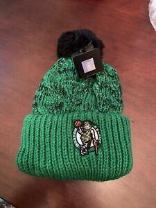 Boston Celtics Womens OTS Brilyn Cuff Knit Hat Beanie Cap New