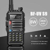 BaoFeng UV-S9 High Power 8Watts Walkie Talkie Long Range two way radio Black