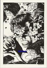 BERNIE WRIGHTSON SUPERMAN 1984 DC COMIC VINTAGE ART PRINT MAN OF STEEL by BERNI