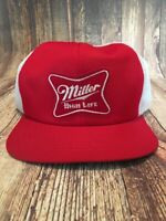 Vintage Mesh Snapback Trucker Cap Hat Red Foam Miller High Life Beer White Wow