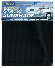 Sunland Black See Thru Static Cling Window Sun Shade for Car Rear/Side Window