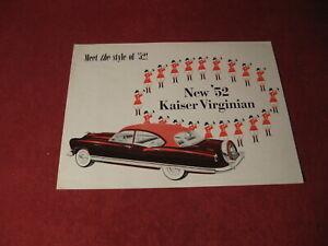 1952 Kaiser Virginian Frazer Sales Brochure Booklet Book Catalog Old Original