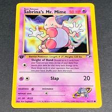 Pokemon 1st Ed. Gym Heroes Set COMMON Sabrina's Mr. Mime 94/132 - Near Mint (NM)