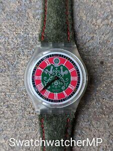 """Vintage Retro 90s Swatch Original Watch GK167 """"Loden"""" 1993 NIB Working"""