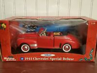 Welly 1941 Chevy Special Deluxe Convertible 1:18 Scale Diecast Christmas Ed. Car
