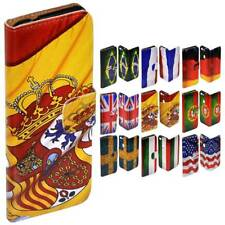 For HTC Series Mobile Phone - National Flag Print Flip Case Wallet Phone Cover
