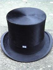 Dunn & Co London Antique Black Silk Top Hat Sz 7 1/8