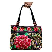 Chinese Style Women Handbag Embroidery Ethnic Summer Fashion Handmade Flowe B3O3