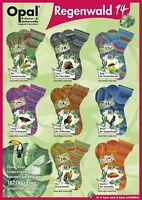 """Opal """"Rainforest 14 / Regenwald 14"""" 4ply Sock Yarn - Full Range"""
