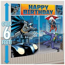 BATMAN BIRTHDAY PARTY SUPPLIES SCENE SETTER WALL POSTER DECORATIONS