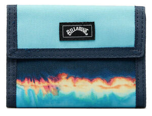 BRAND NEW BILLABONG WALLET MENS BOYS TRI-FOLD SURF BLUE POLYESTER TRIBONG LITE