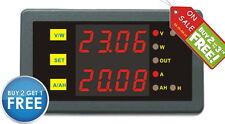 DC 90V 30A Voltage Monitor Volt Amp Gauge Motorcycle ATV Car Battery Tester Red