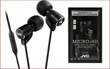 JVC HA-FRD60 BLACK Micro HD In ear Headphones With Mic Remote Switch / ORIGINAL