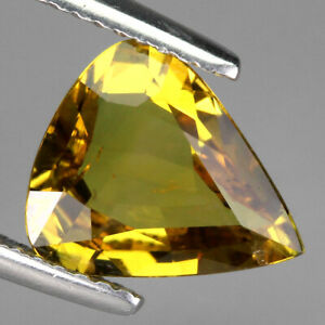 Certificate 2.68ct 10x9mm Pear Cut 100%natural Unheated Yellow Sapphire Thailand