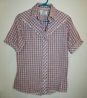 Wrangler Women's Size 34 Pearl Snap Western Button Up Top