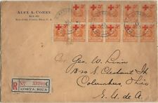 Costa Rica 1933 Red Cross cover with semipostals used as regular Postage Rare