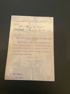 Cockermouth, Keswick & Penrith Railway letter. 1898