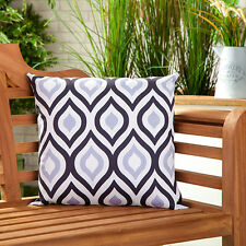 Black Grey Abstract Water Resistant Outdoor Printed Garden Scatter Cushion Cane