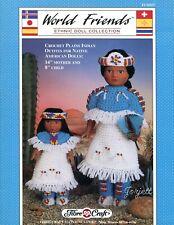 Plains Indian Mother & Child, Fibre-Craft World Friends crochet pattern leaflet