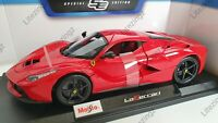 MAISTO 1:18 Scale Diecast Model Car Ferrari LaFerrari in Red